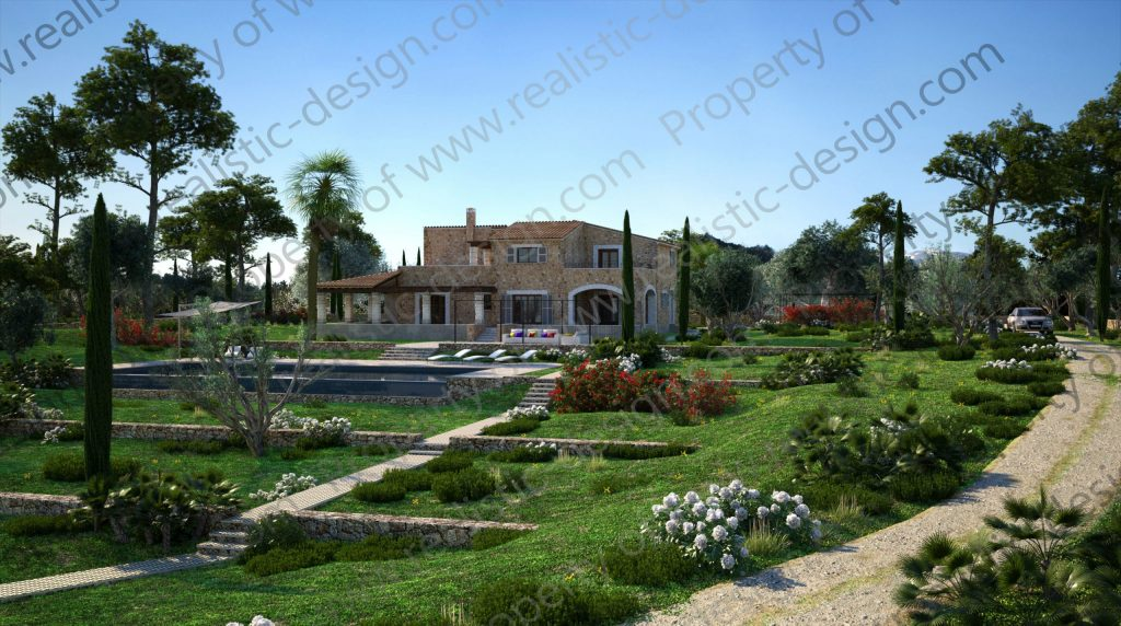 Country side project with sea views